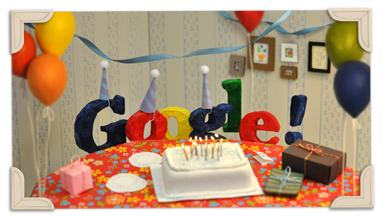 ذكرى تاسيس جوجل 27/9 Googles_13th_Birthda