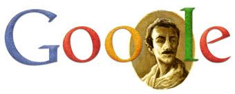 Google Logo: Birthday of Khalil Gibran - Lebanese American artist, poet, and writer.