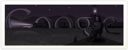 Google Logo: Birthday of Nazik Al Malaika - Iraqi female poet.