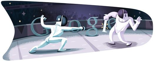 شعار قوقل اولمبياد لندن 2012: fencing-2012-hp.jpg